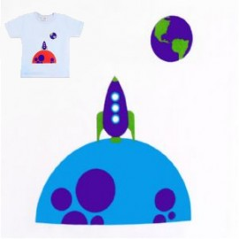 Rocketman short sleeve blue t-shirt
