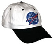 NASA baseball cap (white with black peak)