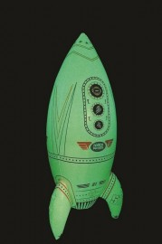 Inflatable Glow in the Dark Giant Rocket 75cm high