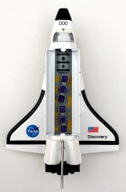 Pull-back action die-cast Space Shuttle
