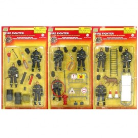 Power Team Elite Fire Fighter 3 Action Figures playset